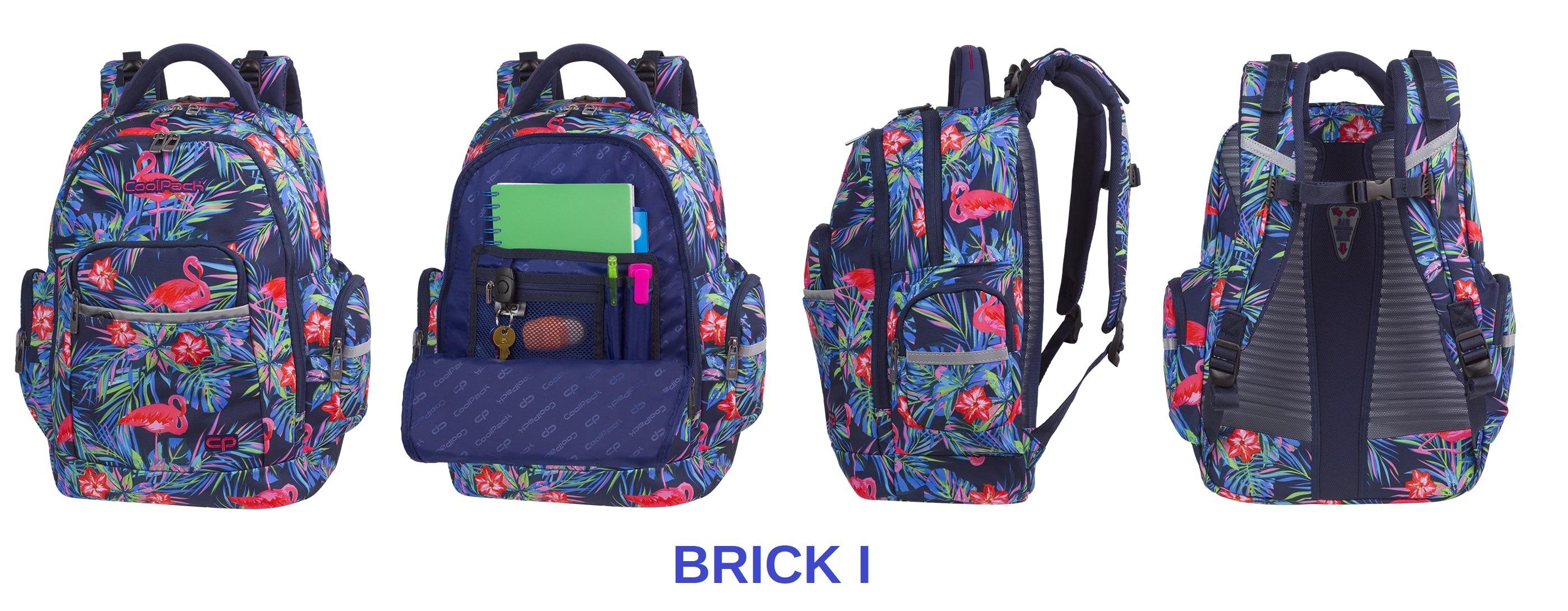 Plecak szkolny CoolPack Brick - ergonomiczna budowa przyjazna dla zdrowia