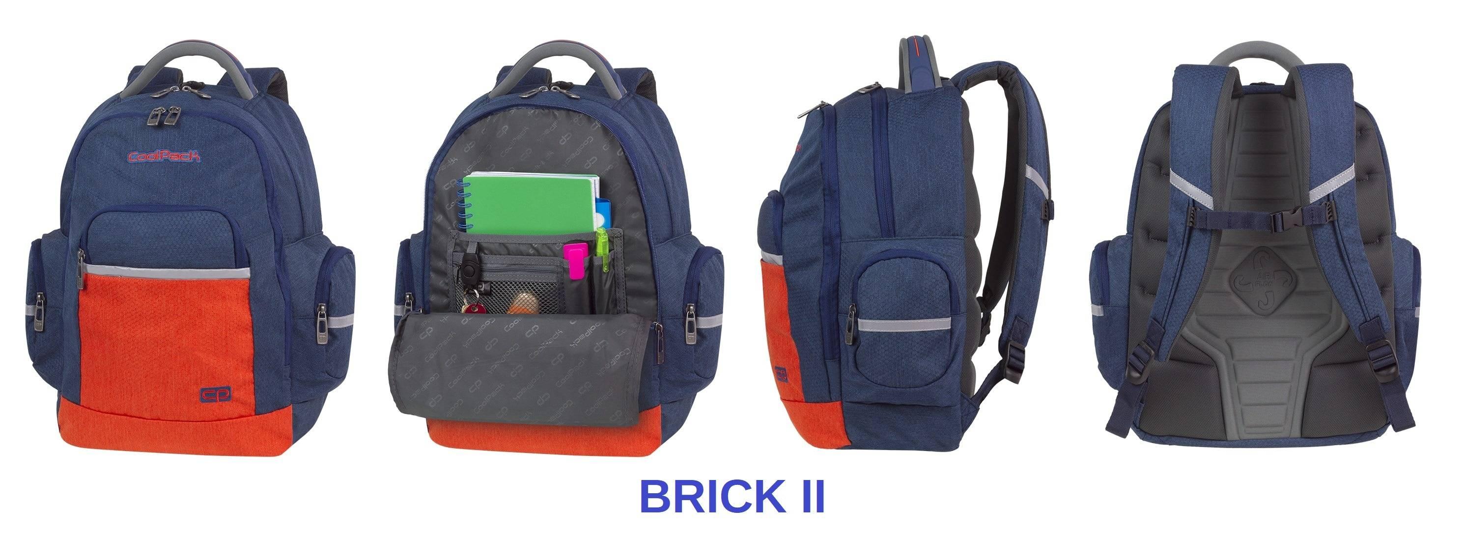 Brick CP - przyjazny dla kręgosłupa plecak do szkoły od CoolPacka
