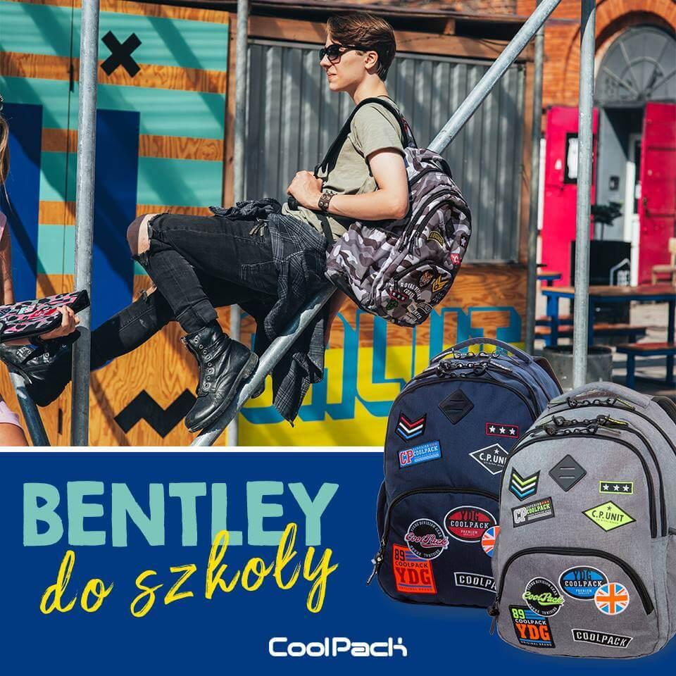 f07215f6927 Wybierz Bentley dobry plecak do szkoły - nowa kolekcja Badges z naszywkami.  Bentley to nowy model młodzieżowego plecaka CoolPack ...