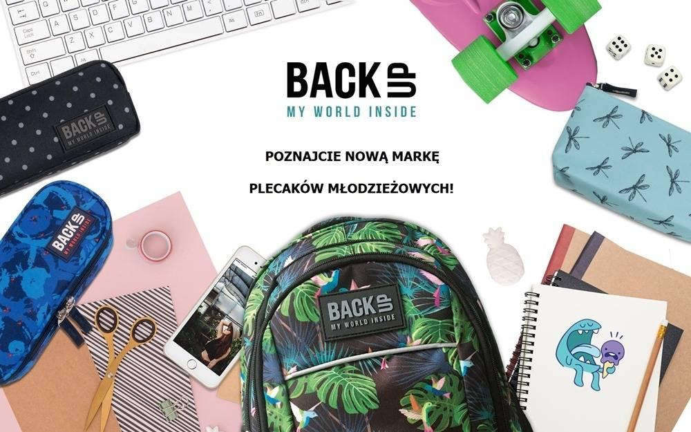 Nowa marka plecaków młodzieżowych BackUP dla modnych nastolatków. Moda szkolna 2018/2019.