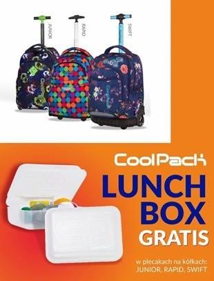Plecaki na kółkach CoolPack dla młodzieży - śniadaniówka gratis!