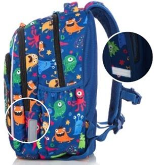 Świecący plecak szkolny CoolPack Strike S z odblaskami