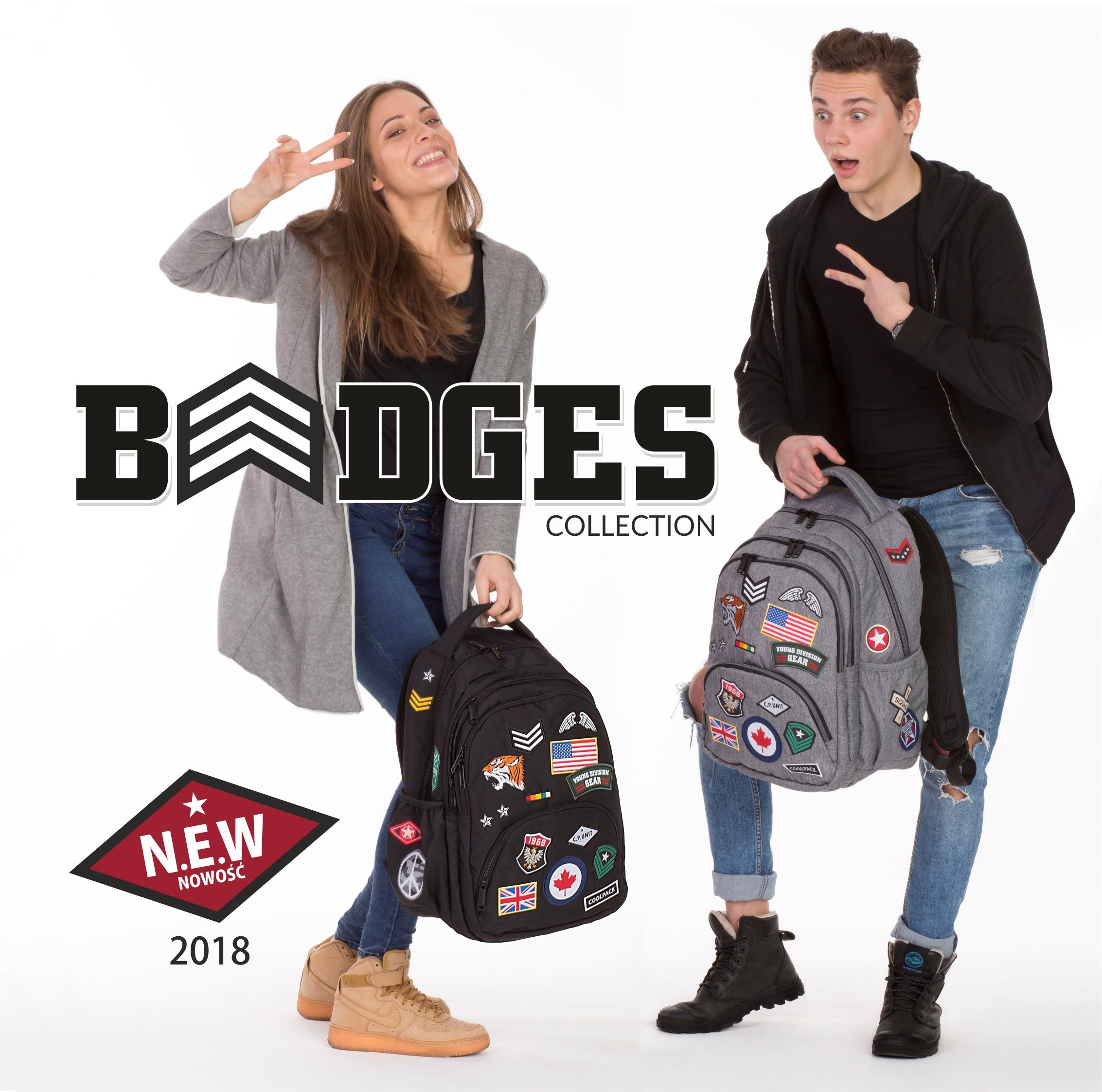 coolpack 2018 nowa kolekcja plecaków szkolnych BADGES