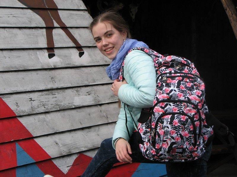 #backtoschool w dobrym stylu czarno biały plecak z flamingami idealny wzór dla nastolatek